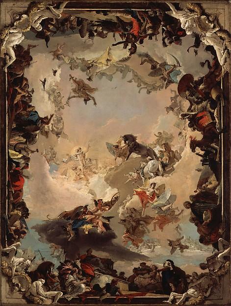 Tiépolo - 1752 Alegoría de los planetas y los continentes