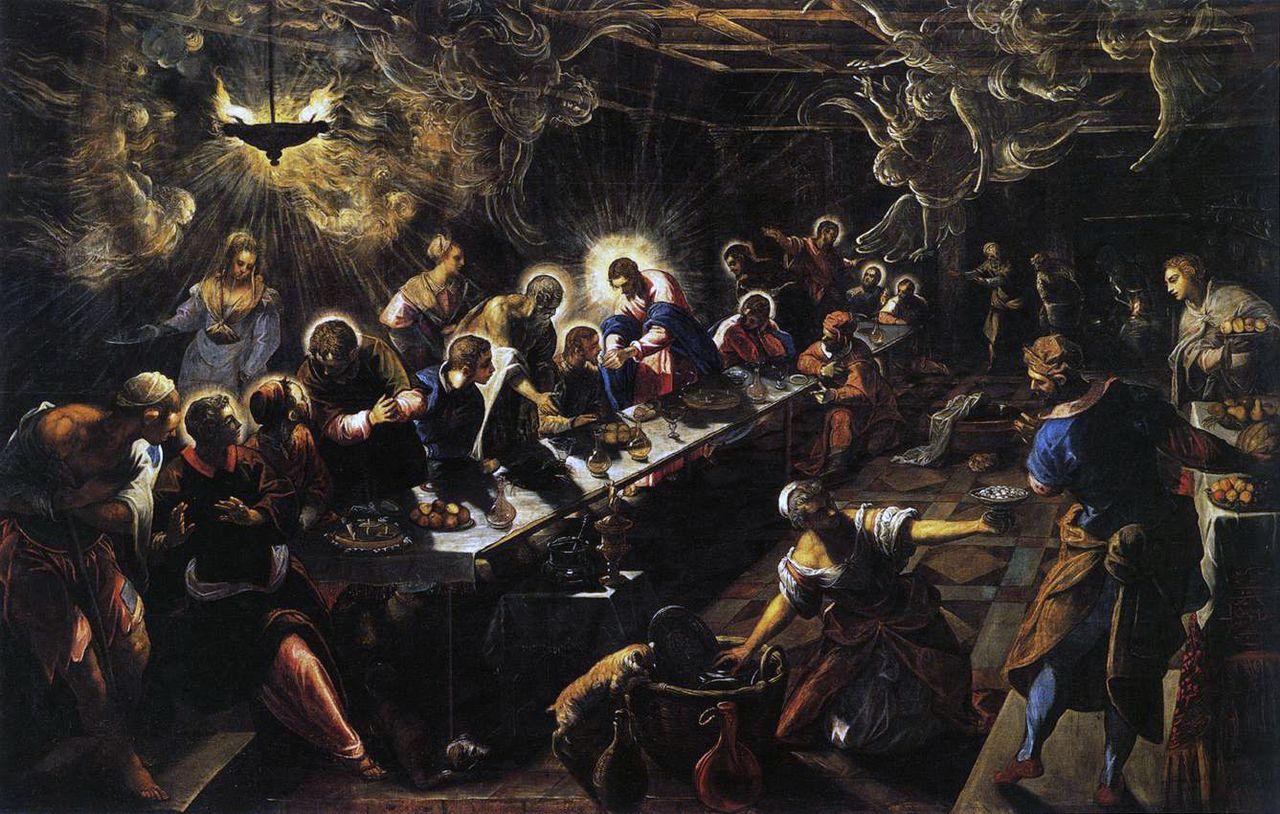 Tintoretto - 1594 La última cena