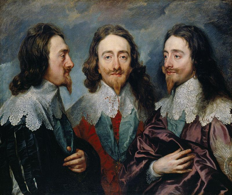 Van Dyck - 1635 Triple retrato de Carlos I