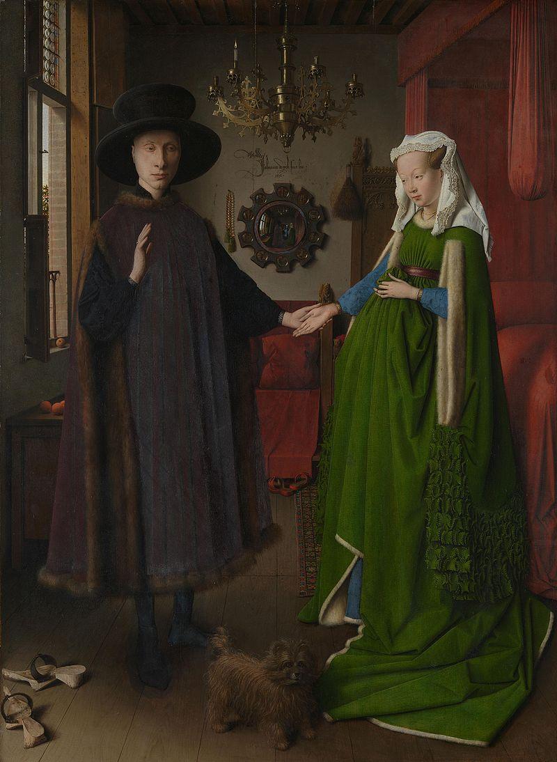 Van Eyck - 1434 Giovanni Arnolfini y su esposa, o El matrimonio Arnolfini