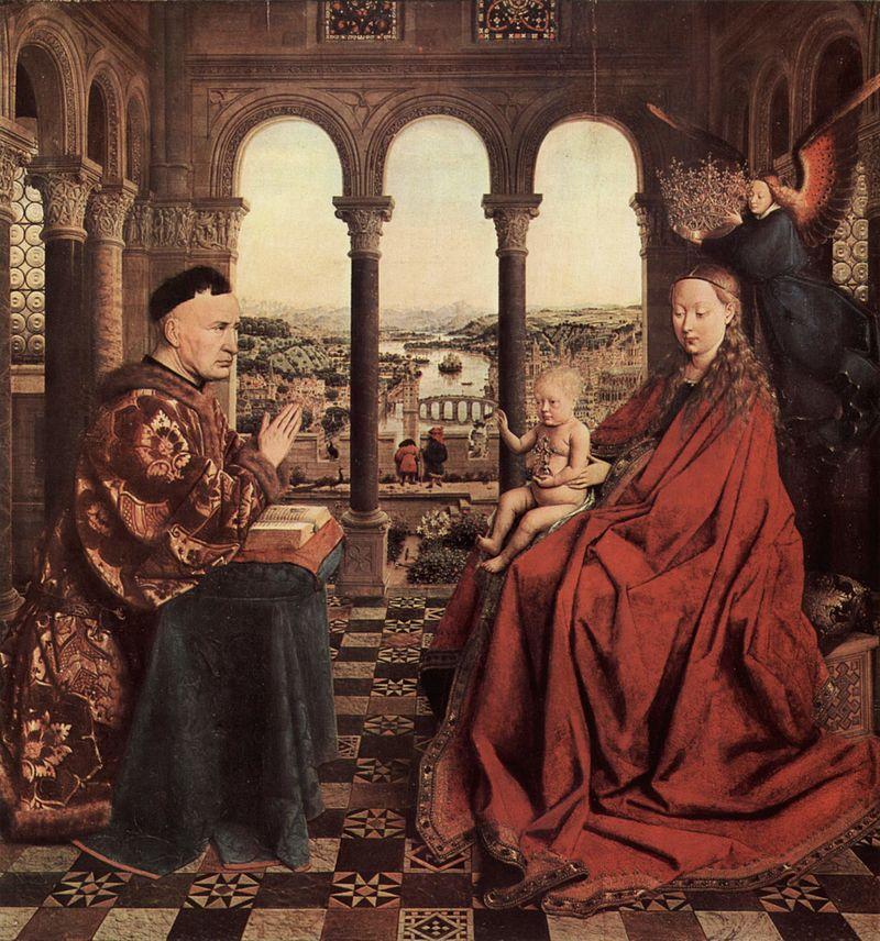 Van Eyck - 1435 La Virgen del canciller Rolín