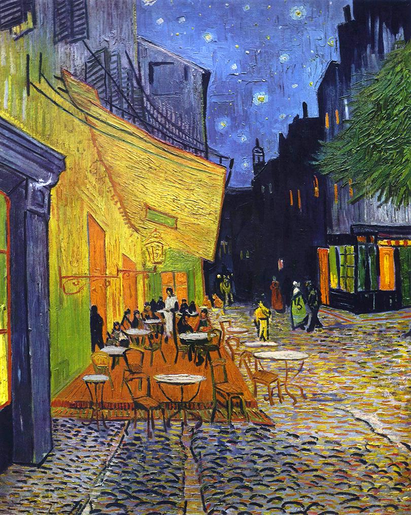 Van Gogh - 1888 Terraza de café por la noche, Place du Forum, Arles
