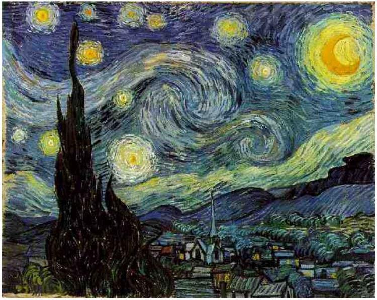 Van Gogh - 1889 La noche estrellada